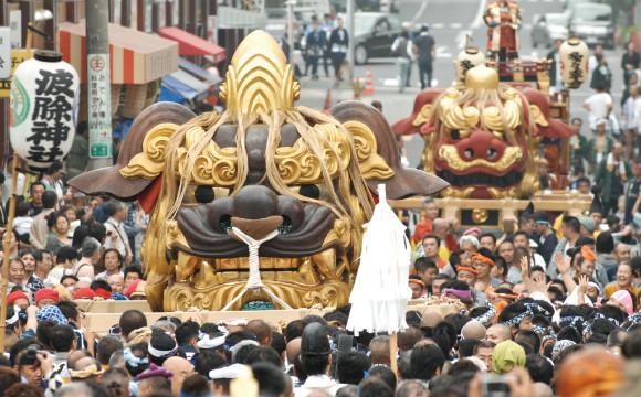【6月活動】巨大「獅子」在街上走路!築地「つきじ獅子祭」 祭、