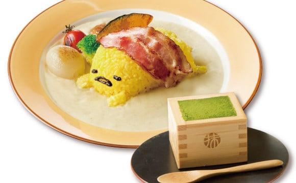 """蛋黃哥Café × Instagram話題""""枡""""裝宇治抹茶提拉米蘇套餐!6/5開始在大阪期間限定發售 蛋黃哥、"""