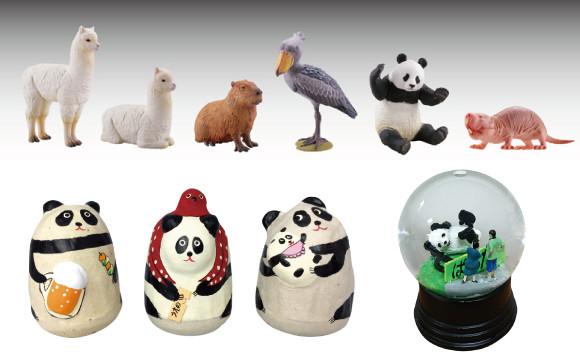 熊貓等象徵上野的玩偶。「上野LAND」名產好可愛 上野、