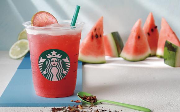 水感十足的西瓜在星巴克飲料裡!「Shaken Watermelon & Passion Tea」新發售 星巴克、