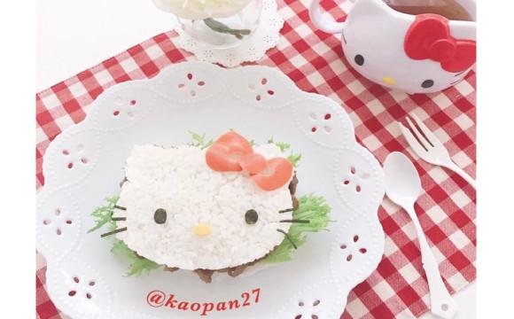 """為大家介紹簡單完成的""""造型料理""""美食!這次的料理是 """"Kitty米漢堡"""" 日本文化、日本流行、觀光、日本飲食"""