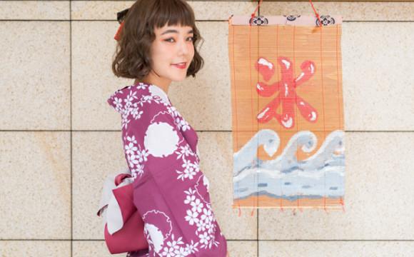 「moshimoshi和服沙龍」穿上出租浴衣走上夏天的原宿街頭 前往「Gion Tokuya」 冰、和服、在原宿、
