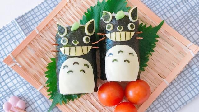 """超簡單!非""""角色便當""""的""""角色餐""""食譜大公開!這次的料理是""""龍貓造型梅子小黃瓜海苔捲"""" 日本文化、日本流行、觀光、日本飲食"""
