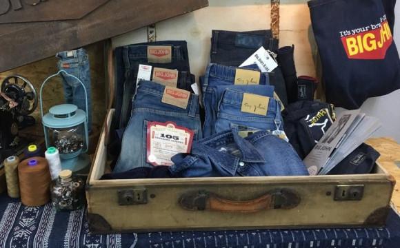 日本最早做出牛仔褲的品牌「BIG JOHN」的出差Trunk Show在Right-on原宿舉辦! right-on、在原宿、牛仔布、
