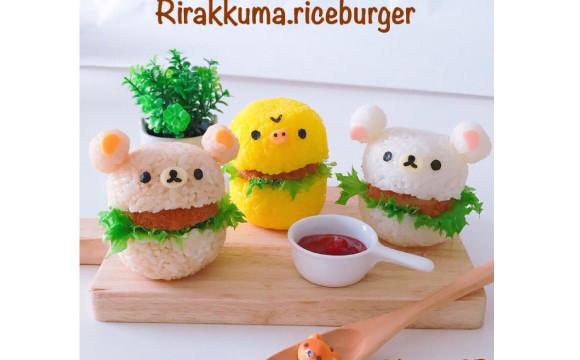 """超簡單!非""""角色便當""""的""""角色餐""""食譜大公開!這次的料理是""""懶懶熊米漢堡"""" 可愛料理、懶懶熊、食譜、"""