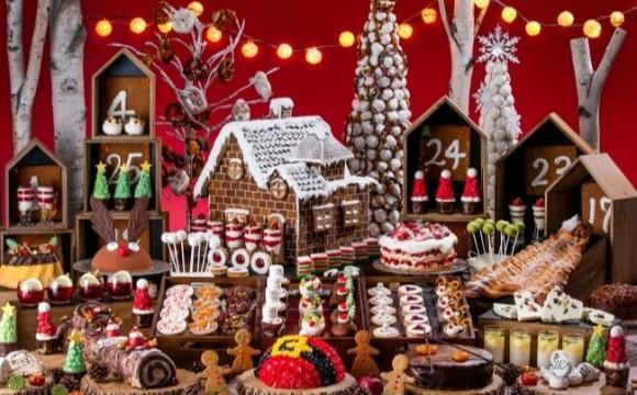 可以在東京台場希爾頓飯店享受「微型聖誕市集世界」的buffet即將舉辦 聖誕節、蛋糕、