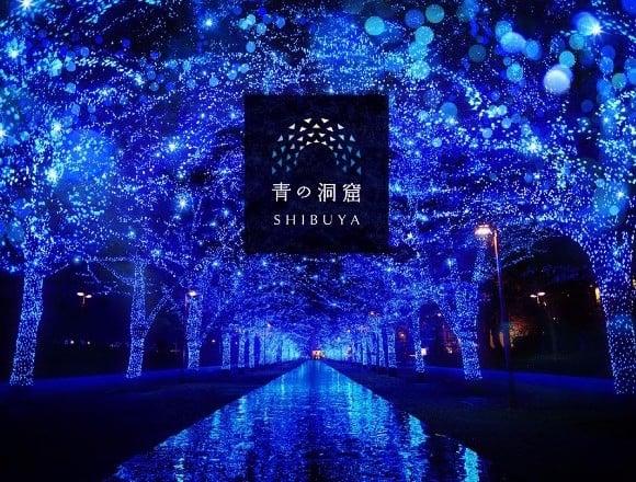 讓涉谷街道變得色彩繽紛的聖誕燈飾「藍色洞窟」在2017年也即將舉辦。 在涉谷、聖誕節、聖誕點燈、