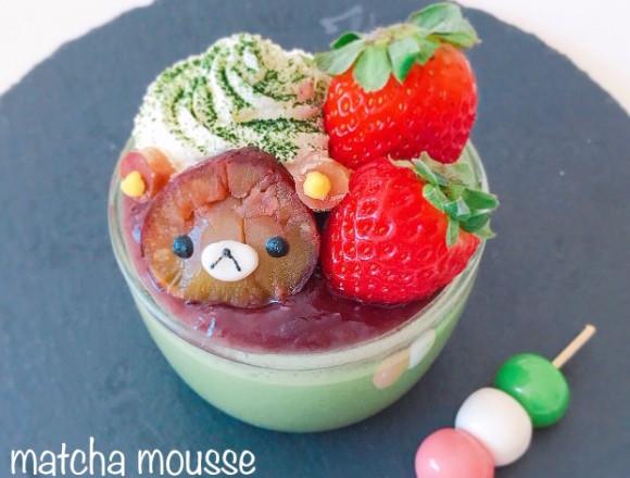 """超簡單!非""""角色便當""""的""""角色甜點""""食譜大公開!這次的料理是""""栗子拉拉熊抹茶慕斯"""" 日本文化、日本流行、觀光、日本飲食"""