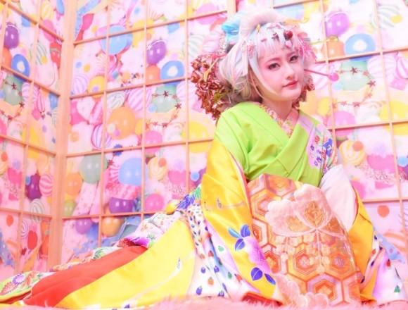 """原宿的和服出租店「MOSHI MOSHI和服沙龍」的""""Kawaii花魁體驗""""開跑 moshimoshi和服沙龍、和服、在原宿、"""