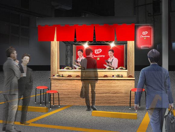 KitKat禮品販售直到末班車發動  銀座「KitKat Chocolatory 攤位」 在銀座、甜點、