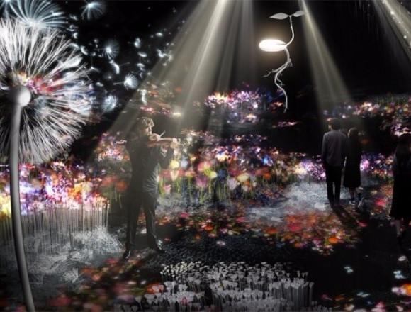 """""""日本最早的賞花""""體驗型藝術展『FLOWERS by NAKED 2018-輪舞曲-』於日本橋舉辦 在日本橋、藝術、"""