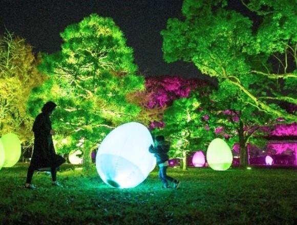 福岡城化身為超美藝術空間!teamLab「城址光之祭」 福岡、teamLab