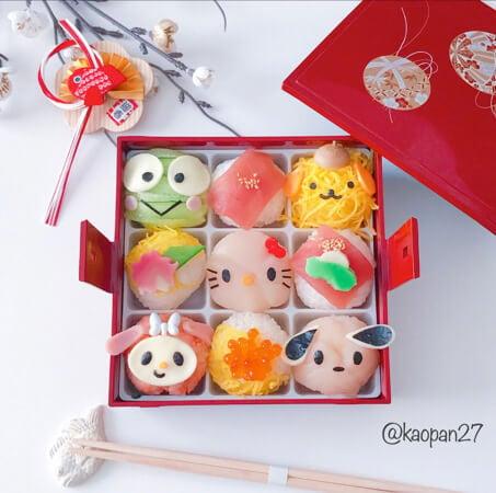 """超簡單!非""""角色便當""""的""""角色甜點""""食譜大公開!這次的料理是""""三麗鷗角色手毬壽司"""" 日本文化、日本流行、觀光、日本飲食"""