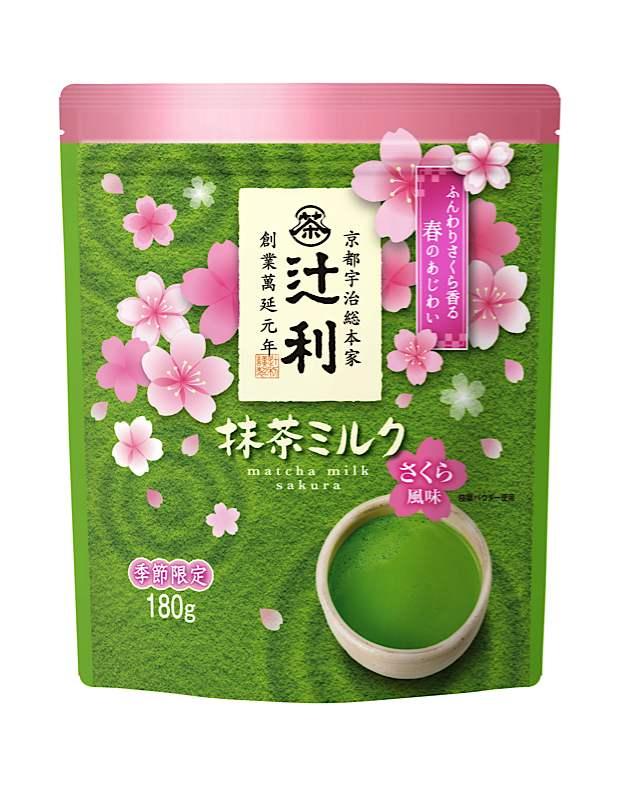 春季限定口味「辻利 抹茶牛奶 櫻花風味」發售 抹茶、辻利、