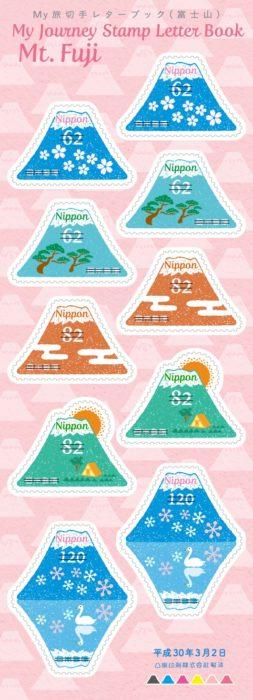 富士山旅郵樂趣本郵票