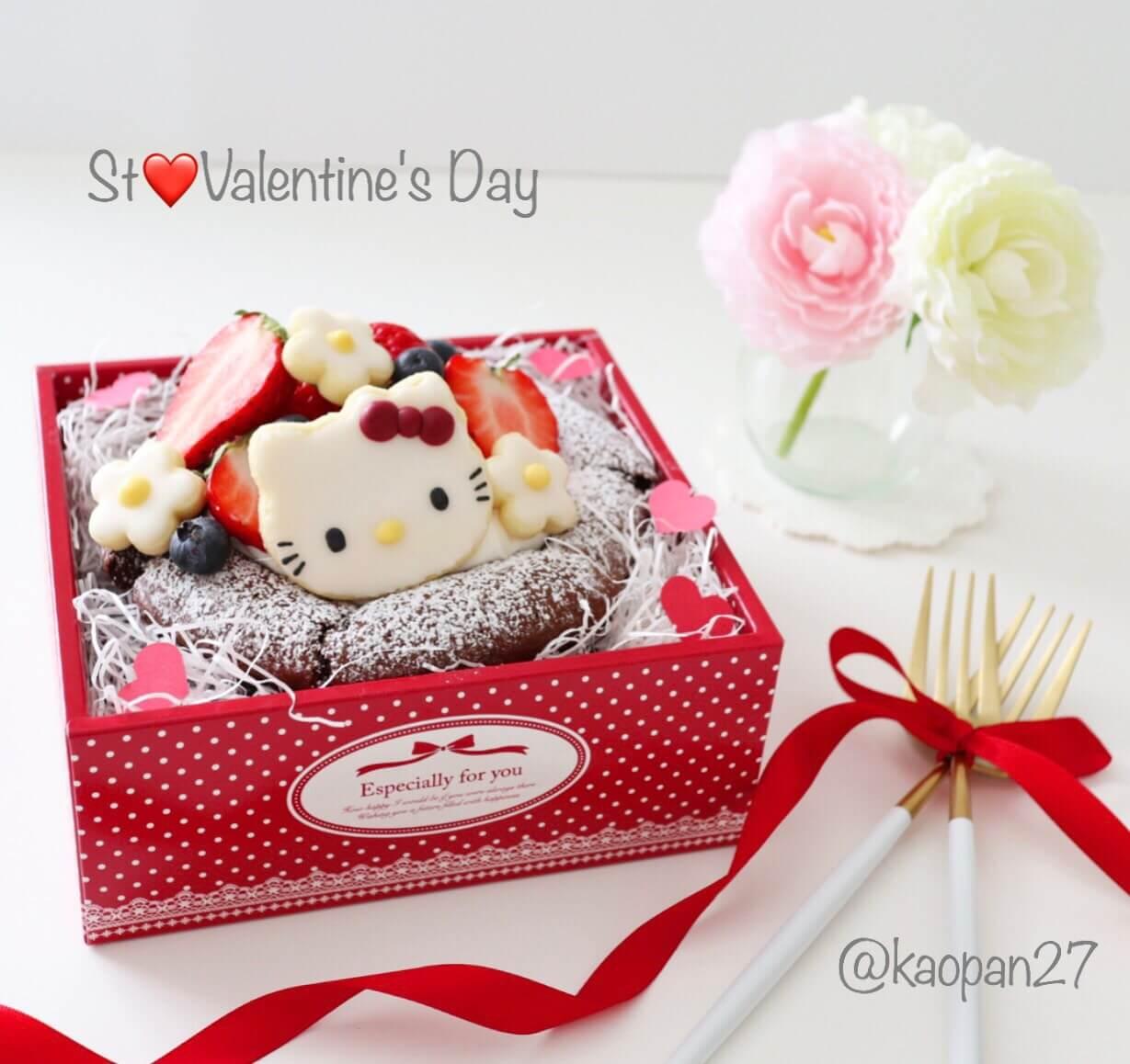 """超簡單的""""角色甜點""""食譜大公開!""""巧克力蛋糕with Kitty"""" 情人節、甜點、蛋糕、"""