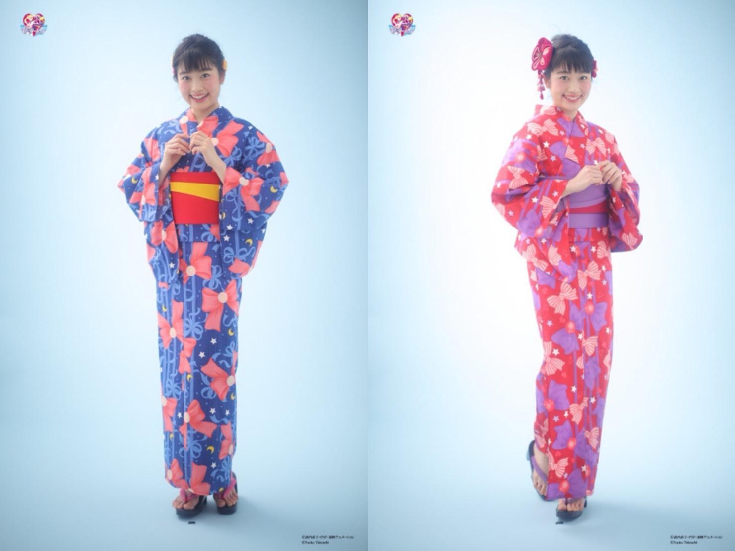 以「美少女戰士」五位主角為主題設計的浴衣登場! 和服、美少女戰士、