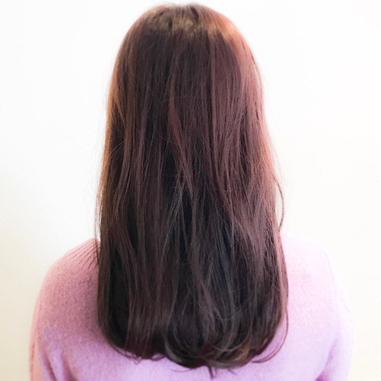 暗めの色落ちピンクブラウンでキメる hayakawa.