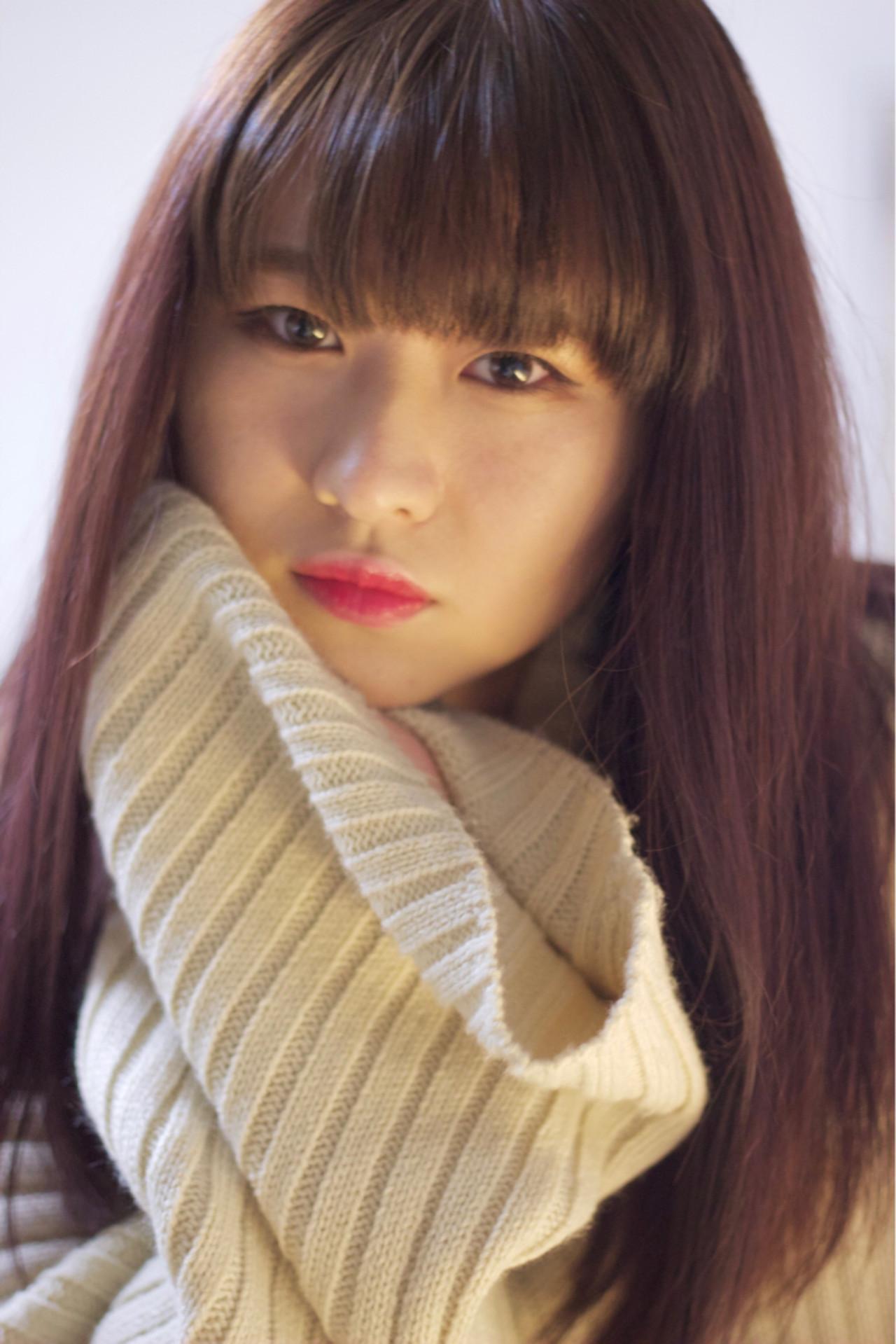 切りっぱなしロングのピンクブラウンヘア♡ The day 4 HAIR