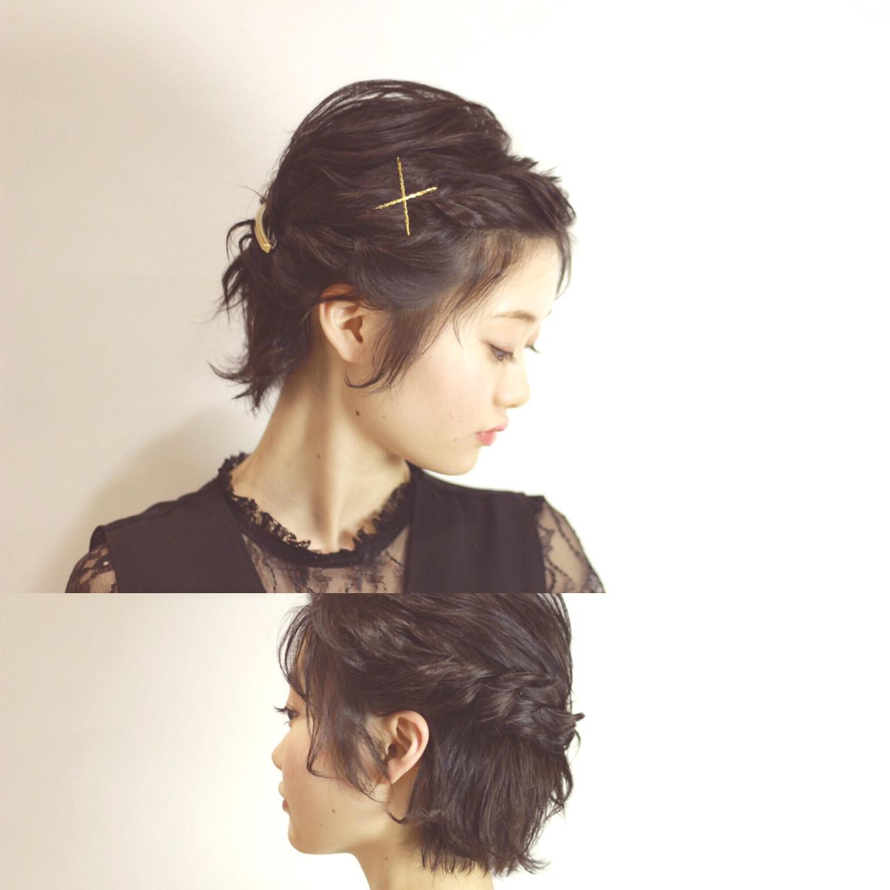 利用「反轉髮辮×捲捲編髮」來做造型 YUKARI