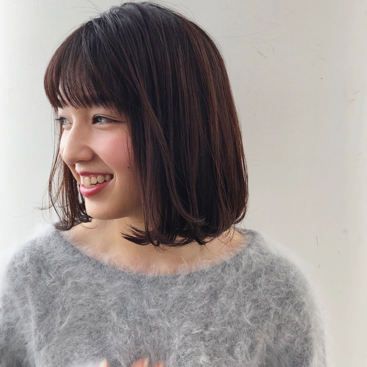 齊瀏海很可愛的直髮鮑伯頭 古田 千明 // ZACC