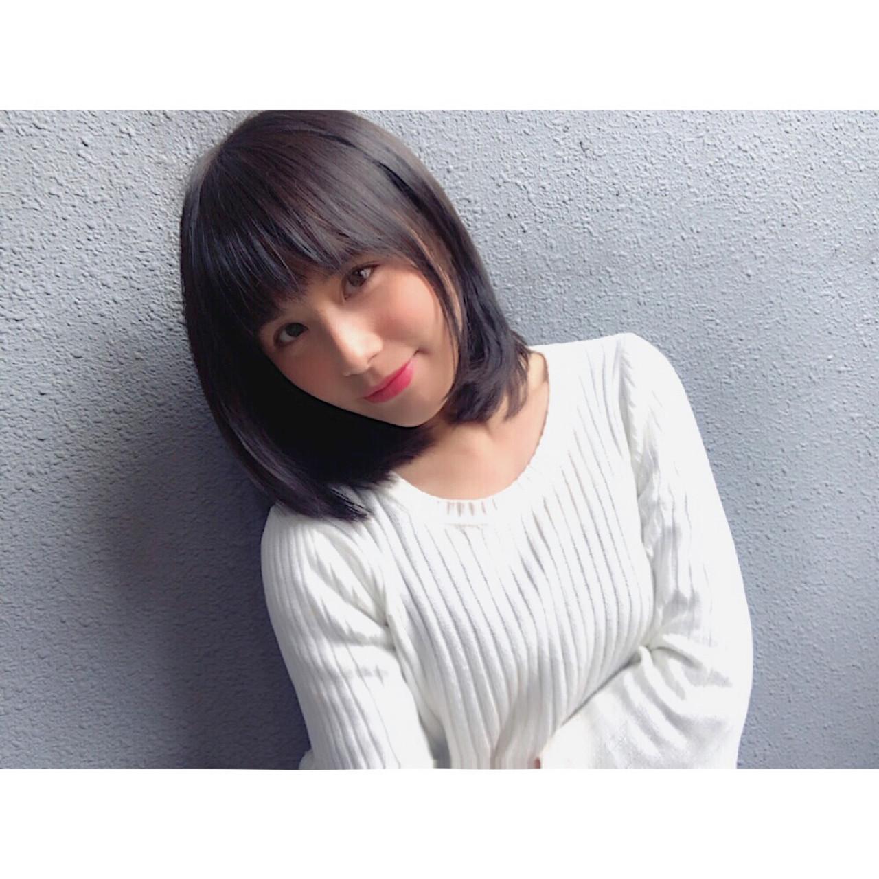 優雅可愛的半長直髮 san