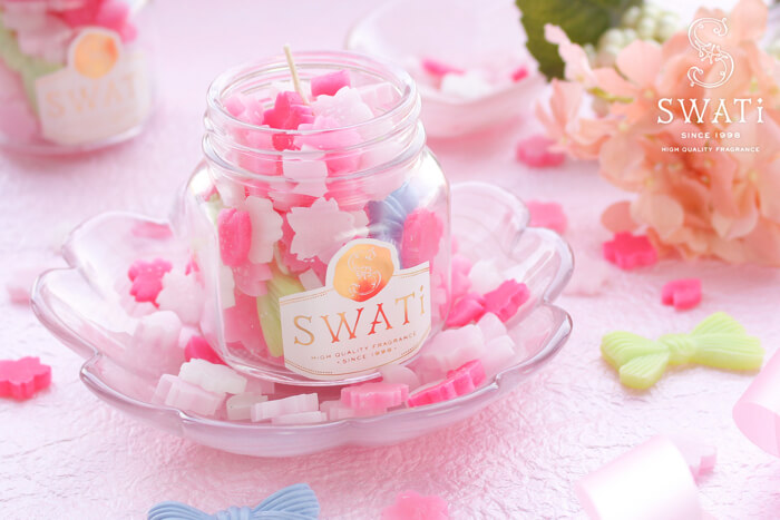SWATiの人気シリーズコンペイトウキャンドル、4月は桜モチーフ