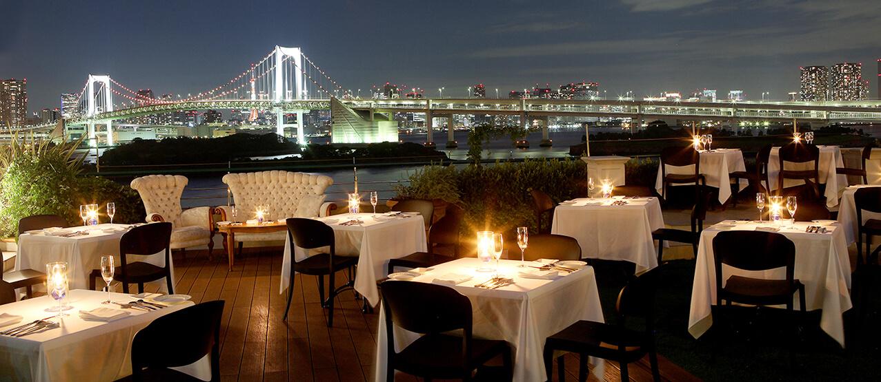 於可以眺望台場美景的私人天台舉辦「肉×東京夜景 Beer Terrace」 台場、餐廳、