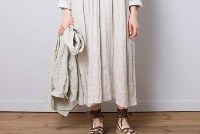 用溫暖的米色擁抱春夏,清新感長洋裝讓人好心動