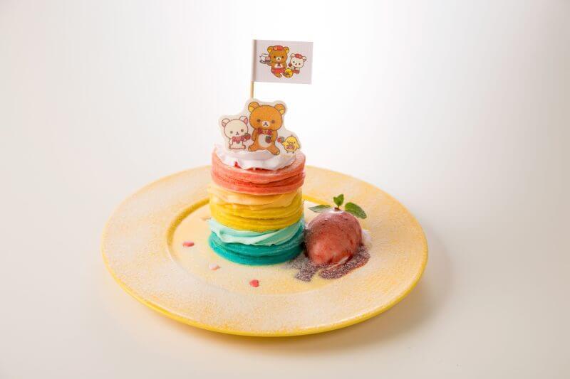 「リラックマタウンカフェ池袋」レインボータワーパンケーキ