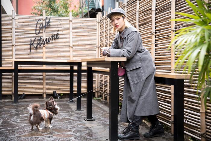 【東京散步】 帶著愛犬mozuku一起踏上商店&景點巡禮之旅 #3 南青山「CAFÉ KITSUNÉ」