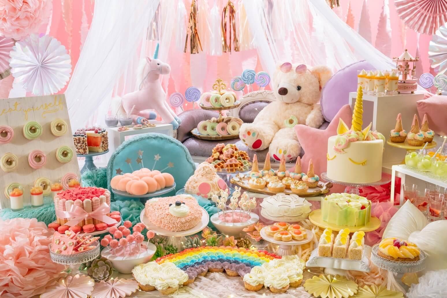 柔和色調的「夢幻可愛」甜點Buffet於東京台場希爾頓酒店登場 台場、甜點、