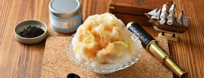 界 アンジン(静岡・伊東温泉) 紅茶のかき氷
