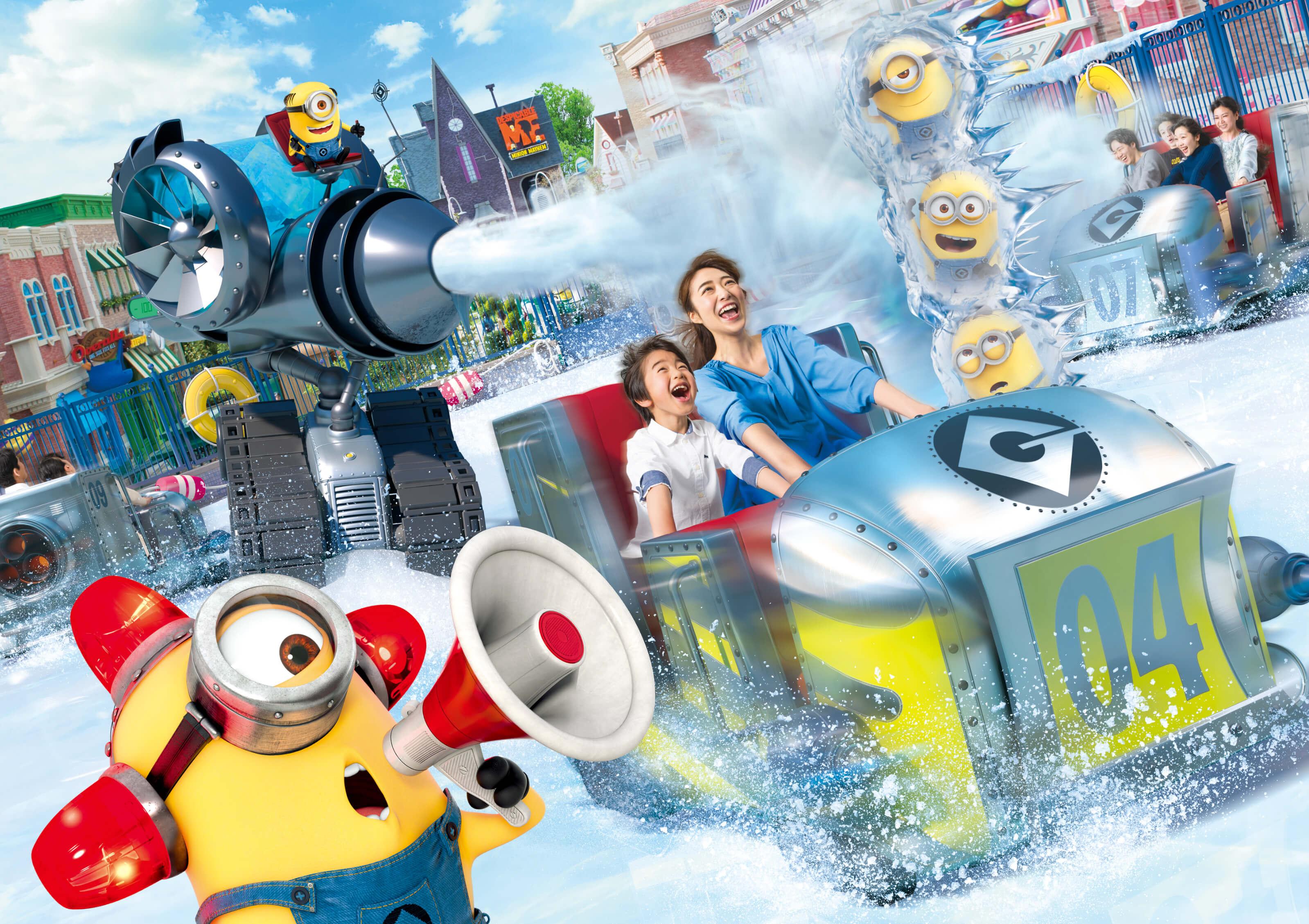 全新乘坐型遊樂設施「Freeze Ray Sliders(小小兵冰上暴動)」將於日本環球影城登場! 小小兵、