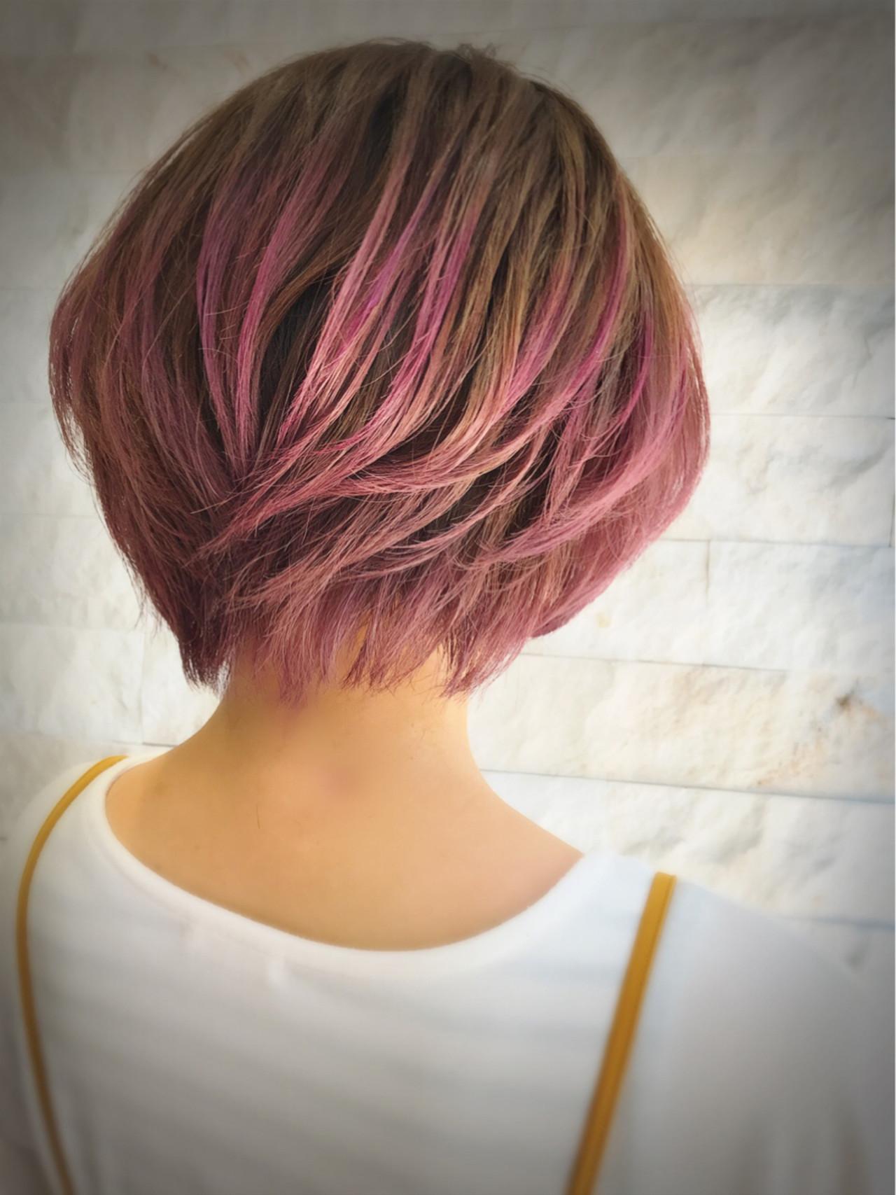 レッド・ピンク・パープル系カラー・ショート 平良 祥一