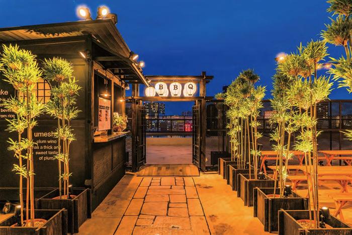 大阪「和のビアガーデン 祭BBQ 天満橋」2