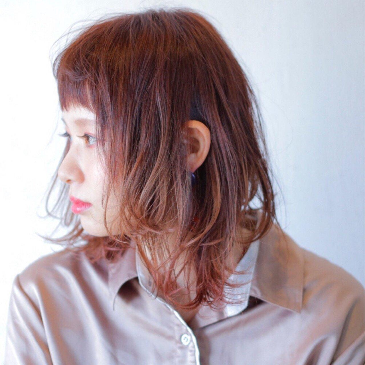 櫻桃色髮色髮型