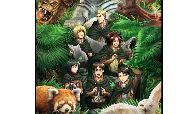 「進擊的巨人 × 東武動物園」發起動物生態調查的合作活動即將舉辦 東武動物園、進擊的巨人、