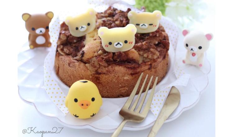 """超簡單的""""角色甜點""""食譜介紹!""""奶油熊蘋果蛋糕"""" 懶懶熊、食譜、"""