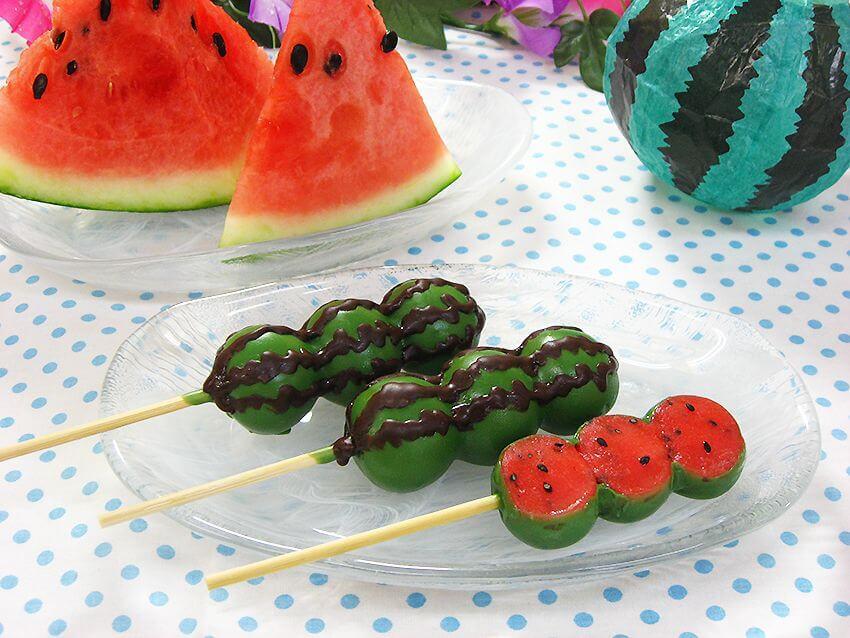 夏季限定!外觀和味道都是「西瓜」的糰子 今年也將登場 甜點、西瓜、