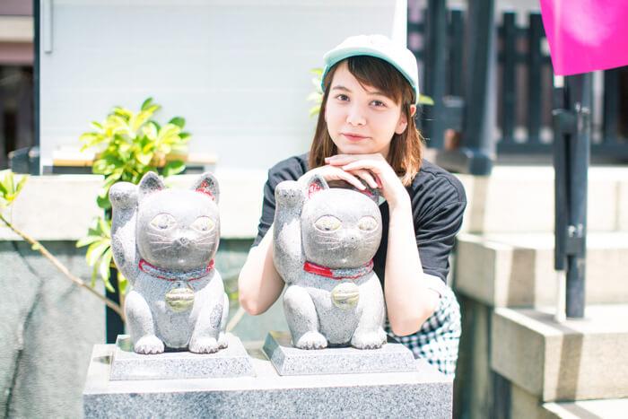 浅草 今戸神社  石のなで猫 東京さんぽ