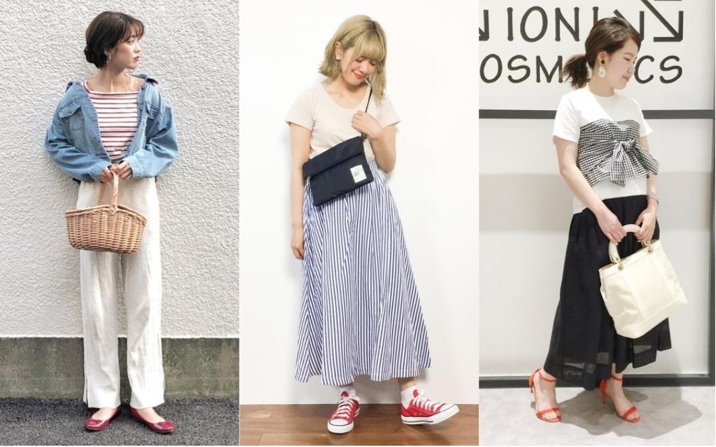 日本女生的夏日秘密武器!用一雙紅鞋讓穿搭存在感大增吧