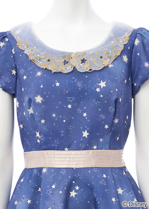 secrethoney迪士尼公主洋裝D23expojapan2018米妮星空款胸前放大