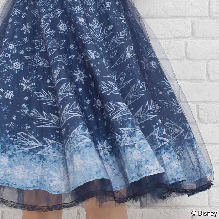 secrethoney迪士尼公主洋裝冰雪奇緣冒險款裙襬