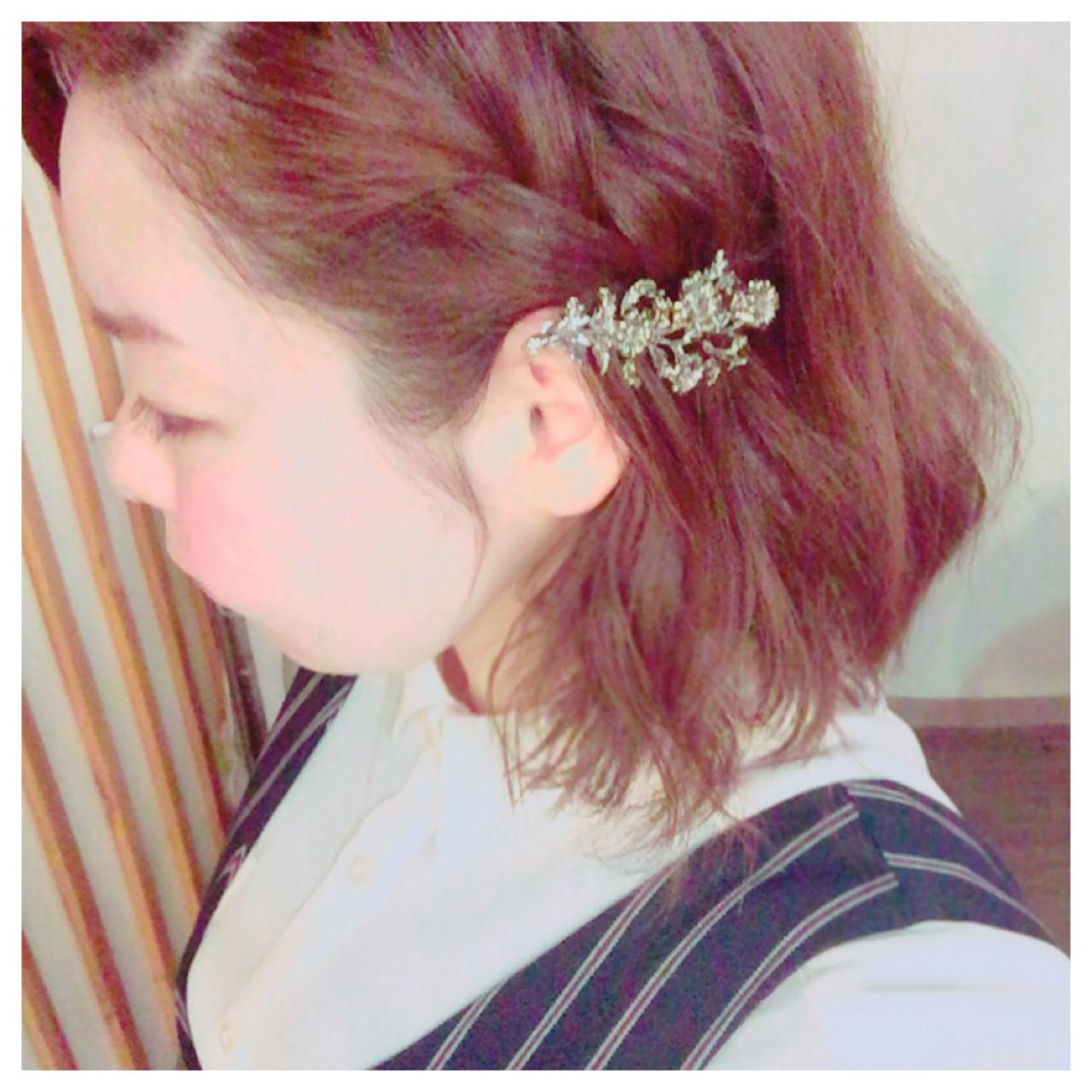 編髮短髮造型