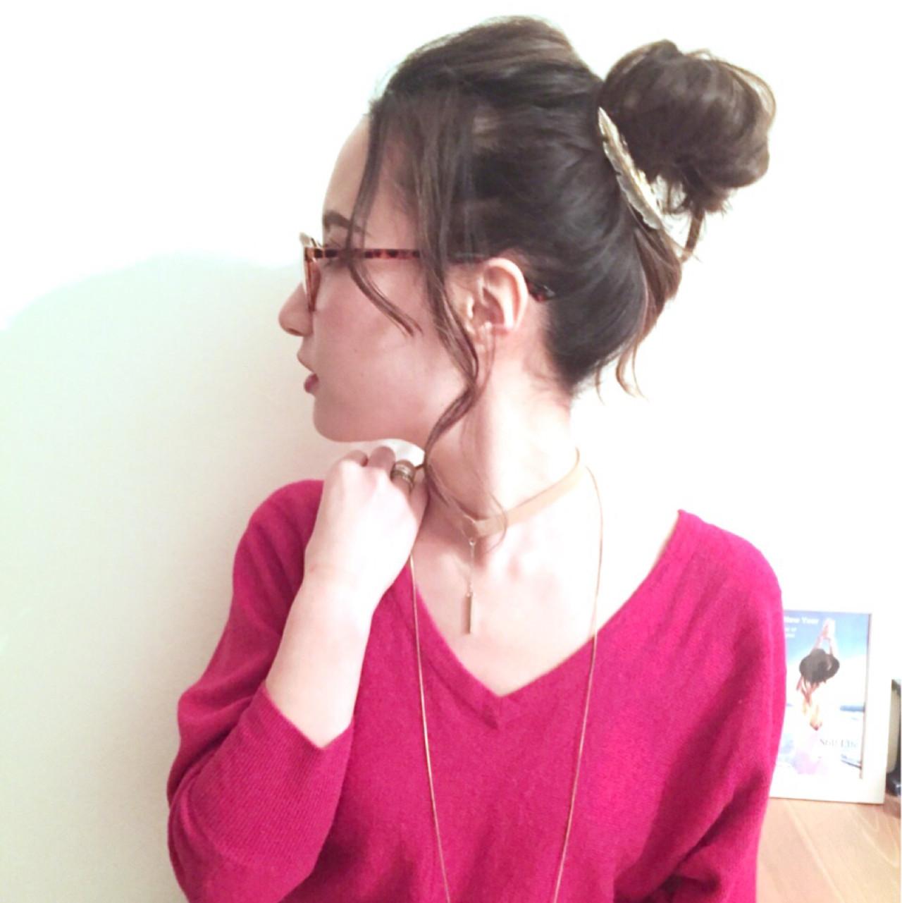 簡單丸子頭編髮
