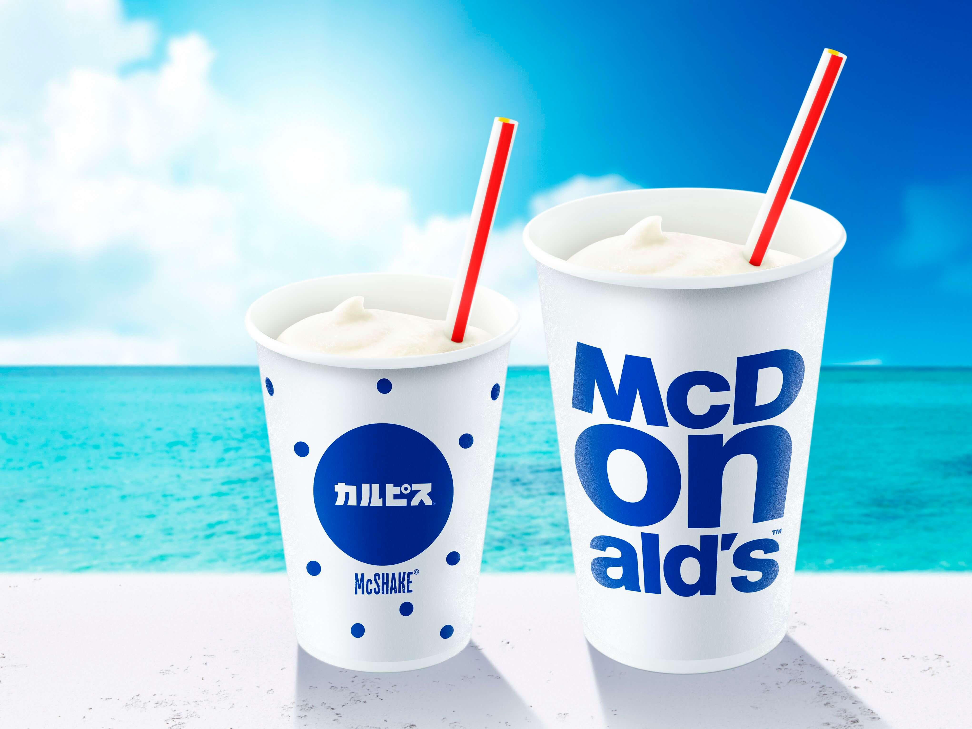 日本麥當勞人氣聯名奶昔商品系列全新登場!「麥當勞奶昔×可爾必思®」 麥當勞、