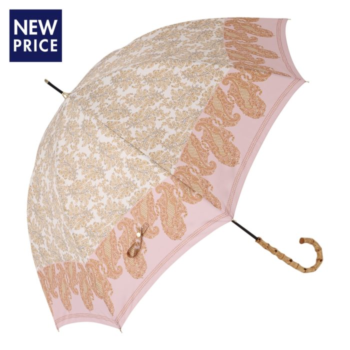 Francfranc雨具介紹雨傘雨衣雨天用品雨傘粉紅半透明花紋長傘雨天用