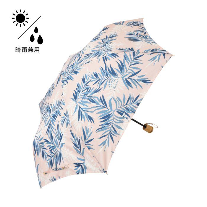 Francfranc雨具介紹雨傘雨衣雨天用品雨傘粉紅藍葉折疊傘晴雨二用