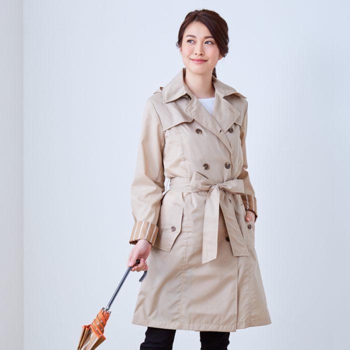 Francfranc雨具介紹雨傘雨衣雨天用品風衣型雨衣米色